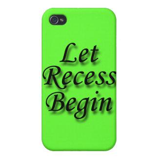 Let Recess  Begin black iPhone 4 Cover