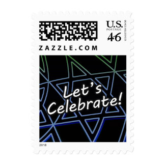 Let s Celebrate Blue to Green Square Postage