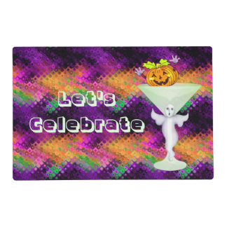 Let's Celebrate Halloween Cocktail Party Laminated Placemat