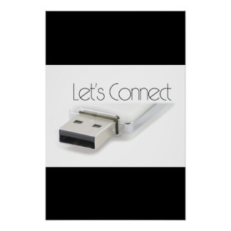 Let's connect USB Poster