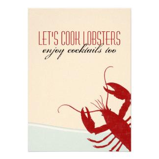 Let s Cook Lobsters Lobster Bake Invitation