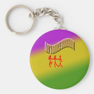 Let`s Dance Together color Background Keychain