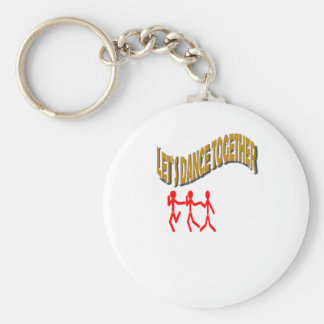 Let`s Dance Together With Family Keychain