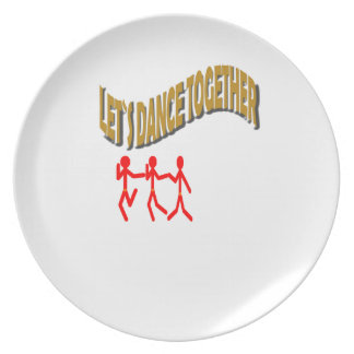 Let`s Dance Together With Family Dinner Plate