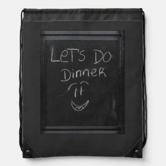 let`s do dinner drawstring backpack