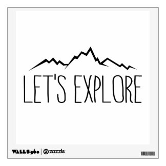 Let's Explore Wall Sticker
