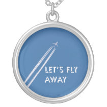 Let's fly away silver plated necklace