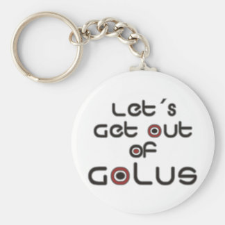 Let´s Get out of Golus Basic Round Button Keychain