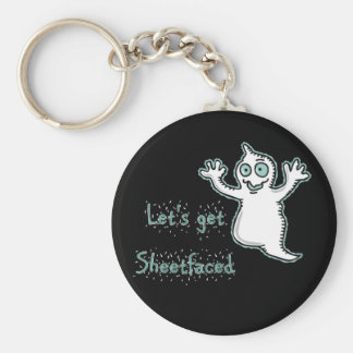 Let s Get Sheetfaced Halloween Ghost keychain