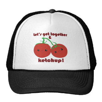 Let's Get Together and Ketchup! Kawaii Tomatoes Trucker Hat