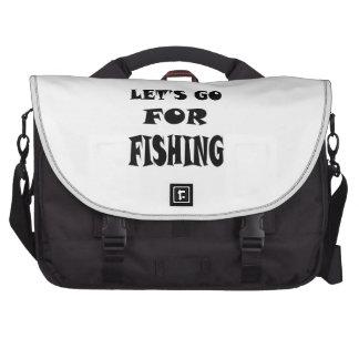Let s Go For FISHING Laptop Messenger Bag