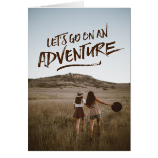 Let's Go On An Adventure Typography Photo Template