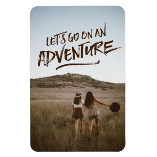 Let's Go On An Adventure Typography Photo Template Magnet
