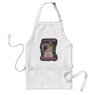 Let's Go Shopping Adult Apron