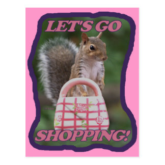 Let's Go Shopping Postcard