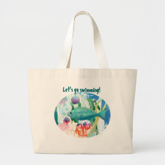 Let s go Swimming with my Fish Canvas Bag