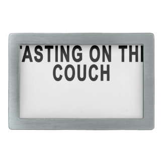 LET'S GO WINE TASTING ON THE COUCH.png Belt Buckle