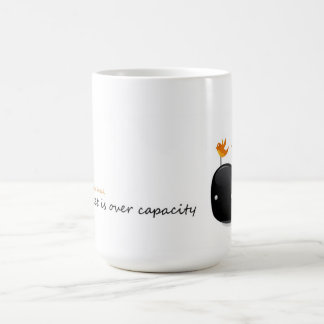 let`s have a break twitter is over capacity classic white coffee mug