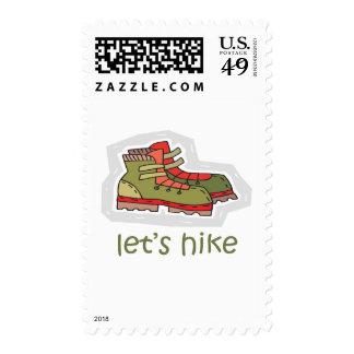 Let s Hike Postage Stamp