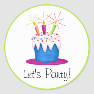 Let s Party Birthday Cake Stickers