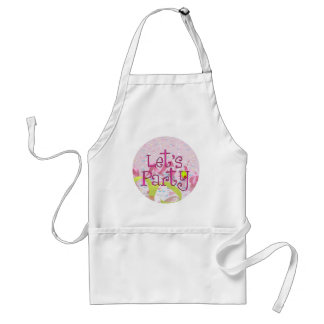 LET,S PARTY CUP by SHARON SHARPE Adult Apron