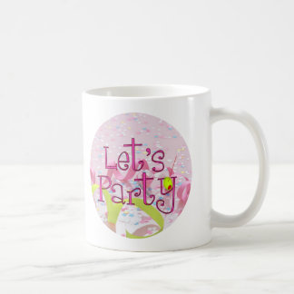 LET,S PARTY CUP by SHARON SHARPE Classic White Coffee Mug