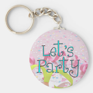 LET,S PARTY CUP by SHARON SHARPE Keychain