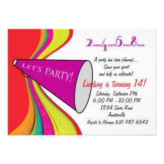 Let s Party Megaphone Invitation