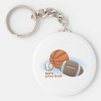 Let s play ball baseball basketball football key chains