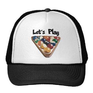 Let s Play Billiards Mesh Hats