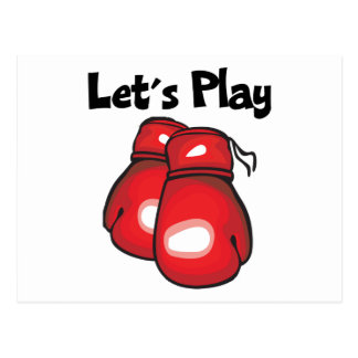 Let s Play Boxing Post Card