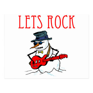Let s Rock Snowman Post Cards