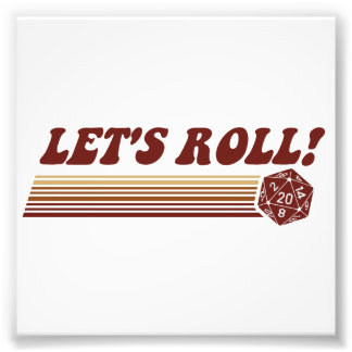 Let s Roll Roleplaying Game Dice Photograph