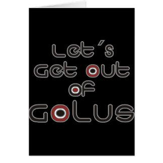 Let´s sale de Golus Tarjeta De Felicitación