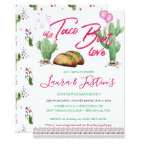 Let's Taco 'Bout Love Engagement Party Card