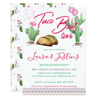 Let's Taco 'Bout Love Engagement Party Invitation
