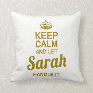 Let Sarah handle it ! Throw Pillow