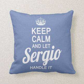Let Sergio handle it! Throw Pillow