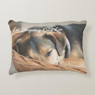 Let Sleeping Dog Lie Photo Decorative Pillow