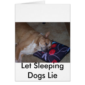 Let Sleeping Dogs Lie Cards