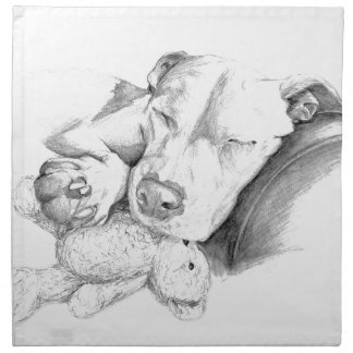 Let Sleeping Dogs Lie Cloth Napkin