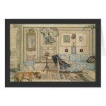 Let Sleeping Dogs Lie Swedish Watercolor Greeting Card