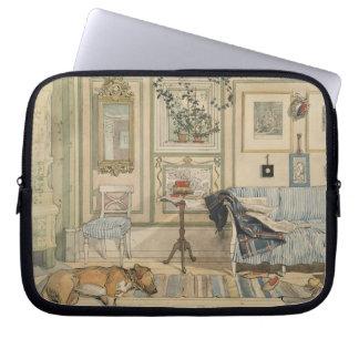 Let Sleeping Dogs Lie Swedish Watercolor Computer Sleeves