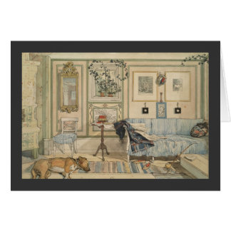 Let Sleeping Dogs Lie Swedish Watercolor Greeting Card