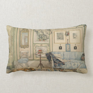 Let Sleeping Dogs Lie Swedish Watercolor Lumbar Pillow