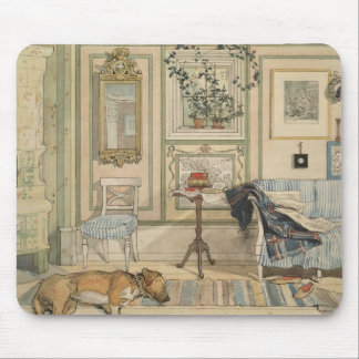 Let Sleeping Dogs Lie Swedish Watercolor Mouse Pad