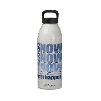 Let Snow Happen Water Bottles