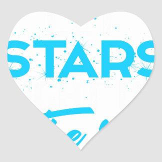 Let stars light up the sky heart sticker