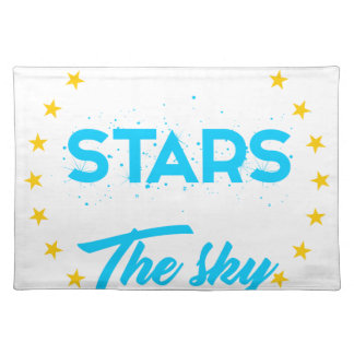 Let stars light up the sky placemat