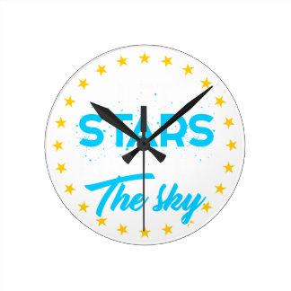 Let stars light up the sky round clock